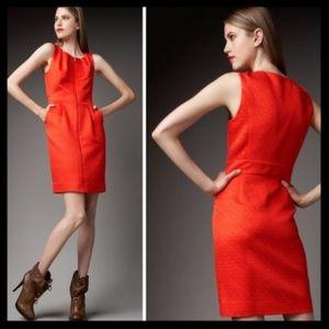 tory burch // zipper red virginia sheath dress